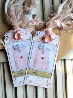 Altered Art Tags...plink cage