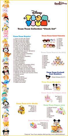 check-list Disney Tsum Tsum