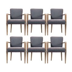 Jacques Quinet dining armchairs