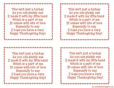 Hand Print Turkey Poem