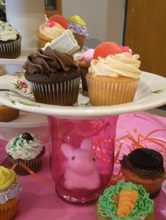 """Here's my """"bunny in the jar"""" to bring out my spring tablescape 4/15/12"""