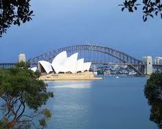 Stunning shot of Sydney Harbour Bridge and the Opera House