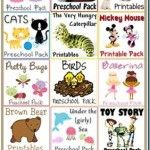 Preschool, Tot, and Kindergarten Printable Packs