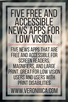 Five free and accessible news apps for low vision users. Five news apps that are free and accessible for screen readers, magnifiers, and large print. Great for low vision users and users with print disabilities. Technology Tools, Assistive Technology, Educational Technology, News Apps, Apps App, Android Apps, Autism Apps, Information Literacy, Teacher Librarian