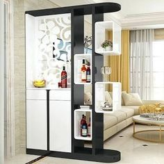 modern living room divider ideas home wall partition design decoration 2019 Room Partition Wall, Living Room Partition Design, Room Divider Shelves, Living Room Tv Unit Designs, Room Divider Walls, Room Partition Designs, Partition Ideas, Room Dividers, Wood Partition