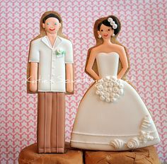 Beach Themed Wedding Cake Topper Cookies | Flickr - Photo Sharing!