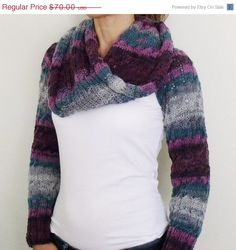 ON SALE Grey Purple Dark Blue by knittingshop on Etsy