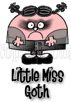 Mr. Men and Little Miss Goth T Shirt Iron on Transfer #16