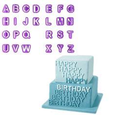 40 stücke Alphabet Letter Anzahl Fondant Kuchen Dekorieren Set Icing Scherblock-form Formen Kuchen Werkzeuge