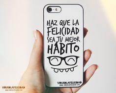 Haz que la felicidad sea tu mejor hábito   Carcasas disponibles en http://ift.tt/1n71PmC  #virusdlafelicidad #carcasas #felicidad #sonrisa #habito #movil #iphone #samsung #accesorio
