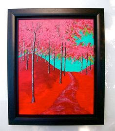 Twilight Woods Original Acrylic Painting 16 x 20 by MikeKrausArt