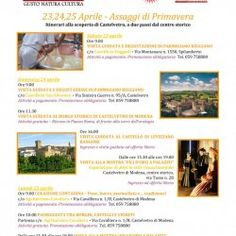 PROPOSTE WEEKEND - 23,24,25 Aprile - Castelvetro di Modena