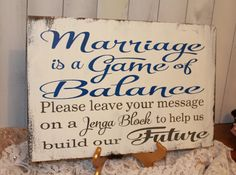 Wedding signs/ Guest Book/Jenga/ Jenga by gingerbreadromantic, $34.95