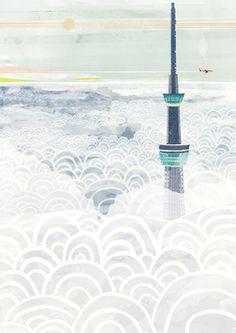 Tokyo Sky by Takayuki Ryujin | Thumbtack Press: Authentic. Affordable. Art.