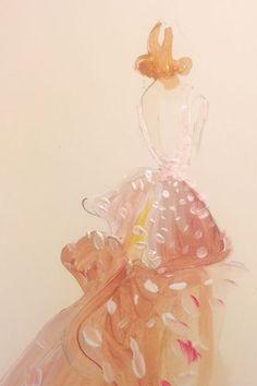 Taylor Swift — pretty in pink in Oscar de la Renta. #refinery29 http://www.refinery29.com/2014/05/67482/met-gala-sketches#slide-9