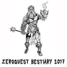 On instagram by artofnerdgore #heroquest #microhobbit (o) http://ift.tt/2dCvj1v I am that slow! But it'll be worth it. Hoping to have 30 fully illustrated fully flavour text'd monsters and beasts by early 2017. Watch out for the Grub Children don't approach the Coffin Golem and never ever mention... The Klunt.  Zeroquest: Skum Fanatic  #zeroquest  #heavymetal #mace #doombong #beard #spikes #oldhammer #oldschoolroleplaying #brush #ink #illustration #bestiary #wanderingmonster #diceroll