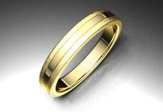 Alianza de oro amarillo de 18K modelo Bplana Ref.: 750AMA35BPLANAOro amarillo de 18Kmodelo Bplana superficie fijo #bodas #alianzas #novia | cnavarro.com
