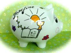 Geldgeschenke - Sparschwein XL  Nr. 83 Konfirmation - ein Designerstück von MM-Bastelparadies bei DaWanda Piggy Bank, Etsy, Wedding, Crafting, Money Box, Money Bank, Savings Jar