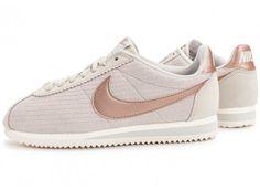 best website ad9d9 309de Chaussures Nike Cortez Leather Lux beige vue extérieure