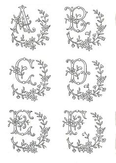 673 Best Embroidery Letters Images Fonts Embroidery Stitches