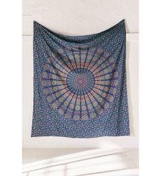 hippie boho mandala tapestry sheet
