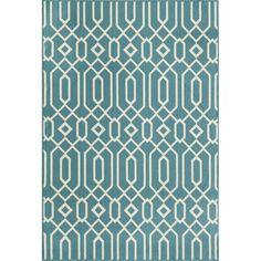 Links Blue Indoor/ Outdoor Rug (7'10 x 10'10) | Overstock.com Shopping - Great Deals on 7x9 - 10x14 Rugs