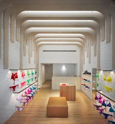 """Voda swim store by mw design, taichung - taiwan """" retail des Shop Interior Design, Retail Design, Store Design, Visual Merchandising, Taichung Taiwan, Underwear Store, Video Games For Kids, Branding, Retail Space"""
