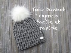 TUTO BONNET EXPRESS AU CROCHET FACILE Easy hat crochet GORRO PUNTO FACIL  CROCHET 5d9c4044d494
