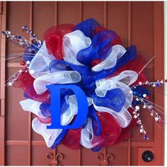 Memorial day/4th of July wreath!