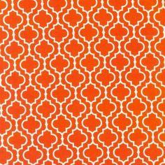 geometric orange fabric
