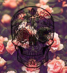 Skulls and flowers <3