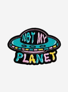 """When in doubt, get in your UFO and fly away. This colorful patch features """"Not my planet"""" text x 2 Cute Patches, Pin And Patches, Sew On Patches, Historical Women, Historical Photos, 70s Inspired Fashion, Strange History, History Facts, Medieval Jewelry"""
