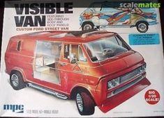 Model Cars Kits, Kit Cars, Plastic Model Kits, Plastic Models, Panel Truck, Vintage Models, Box Art, Scale Models, Trailers