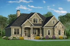 Traditional Style House Plan - 4 Beds 3.00 Baths 2217 Sq/Ft Plan #929-822 Exterior - Front Elevation - Houseplans.com