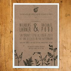 enchanted forest wedding stationery by russet and gray wedding invitations | notonthehighstreet.com