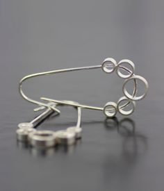 in honour of one of my favourite tunes:  unique silver threader earrings  weighty ghost  modern by lolide, $88.00