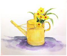 watering can illustration