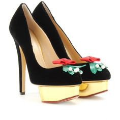 PUMPS KISS ME DOLLY IN VELLUTO seen @ www.mytheresa.com