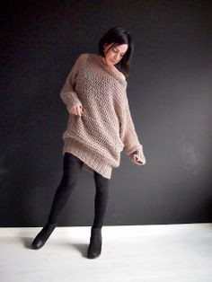 VMSomⒶ KOPPA: Mohairvillapaita | Crochet sweater with mohair yarn, a hook 3 sizes too large, a bit of knitting, and with simple TC/DC stitch.