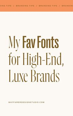 When it comes to conveying the quality and value of your brand, choosing the right fonts is key! Whether it's for your logo or just the copy on your website and promotional materials – the fonts that you use can drastically change how customers perceive your brand. So I wanted to share a few of my favorite fonts that would work well for elevated, refined brands! Click the image above to read more! Typography Fonts, Hand Lettering, Read More, Creative Business, Luxury Branding, Wayfarer, Things To Come, Key, Change