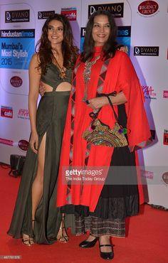 Shabana Azmi and Aditi Rao Hydari at HT Mumbais most stylish awards 2015 in Mumbai.
