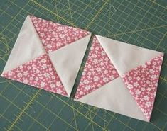 Sew Quilt hourglass quilt block tutorial from cluck cluck sew - After staring at fabrics for too long trying to decide what pattern to make my baby a quilt with…I went with classic hourglass blocks. There are probably loads of good tutorials for these bl… Baby Quilt Tutorials, Quilting Tutorials, Quilting Projects, Quilting Designs, Quilting Tips, Quilt Baby, Baby Quilt Patterns, Half Square Triangle Quilts, Square Quilt