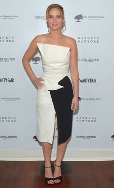 """Jennifer Lawrence attends the Vanity Fair, Barneys New York and The Weinstein Company celebration of """"Silver Linings Playbook"""" in support of The Glenholme School on February 20, 2013 in Los Angeles, California"""
