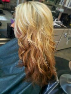 Reverse coppery ombre by me :)