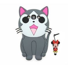 Amazon.com: Disney 3D Cartoon Cat Soft Silicone Cover Case for Samsung Galaxy S3 i9300 -Gray: Cell Phones & Accessories