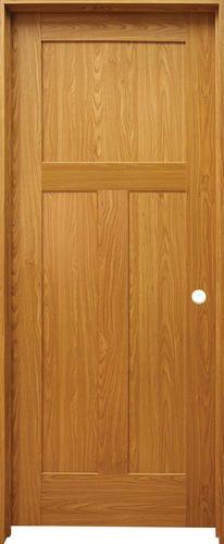 Mastercraft Oak Flat 3 Panel Mission Prehung Interior Door