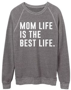 33479160bc5e4 Ily Couture Mom Life is the Best life Sweatshirt - White Ily Couture