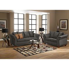 Adrian Graphite Upholstery Sofa - Value City Furniture