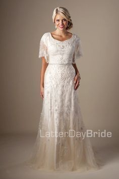 ab5394e18b455 Plus size wedding gowns for mature brides