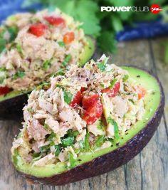 Pensando en qué hacer de cenar saludable ? TIP @powerclubpanama Aguacates rellenos de Tuna #YoEntrenoEnPowerClub